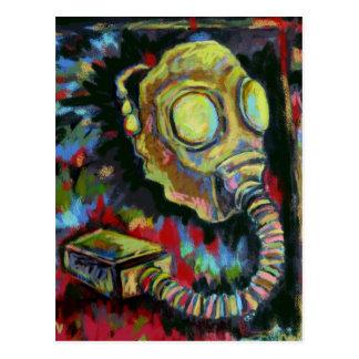 Cartão Postal Amarelo da mostarda, produtos da arte da máscara