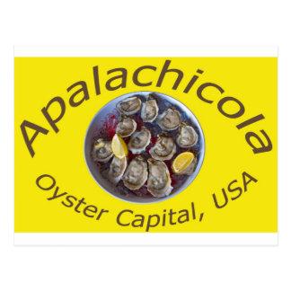 Cartão Postal Amarelo do capital da ostra de Apalachicola