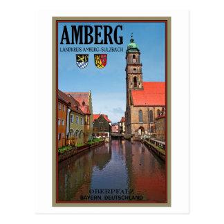 Cartão Postal Amberg - rio de Vils