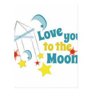 Cartão Postal Ame-o a lua!