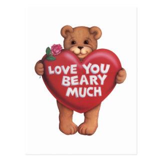 Cartão Postal Ame-o Beary muito produtos