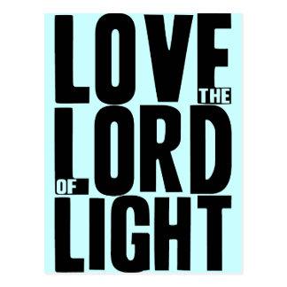 Cartão Postal Ame o senhor da luz