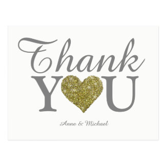 Cartão Postal ame & obrigado casamento agradável
