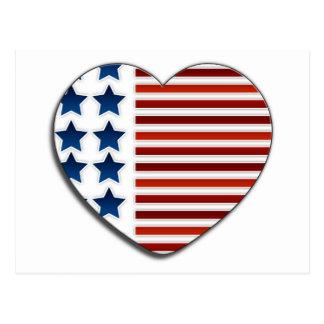 Cartão Postal Ame os EUA