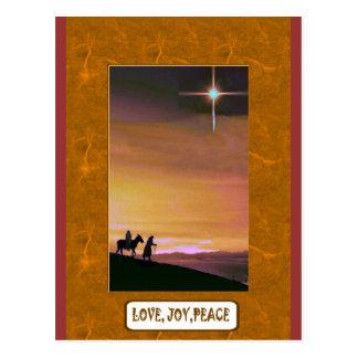 Cartão Postal Ame, paz da alegria, na estrada