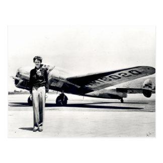 Cartão Postal Amelia Earhart
