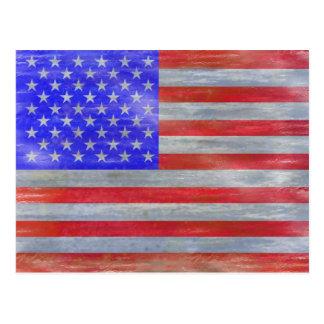Cartão Postal América afligiu a bandeira americana dos EUA