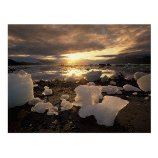 Cartão Postal America do Norte, EUA, Alaska, baía de gelo,