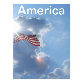Cartão Postal América - eu sou um americano