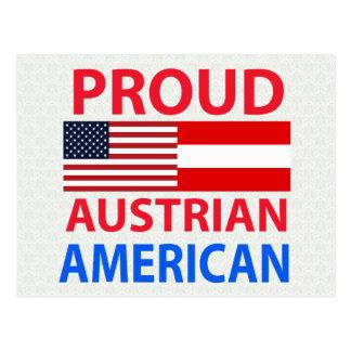 Cartão Postal Americano austríaco orgulhoso