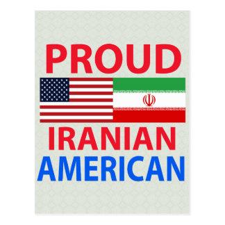Cartão Postal Americano iraniano orgulhoso
