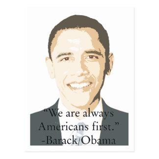 Cartão Postal Americanos primeiramente
