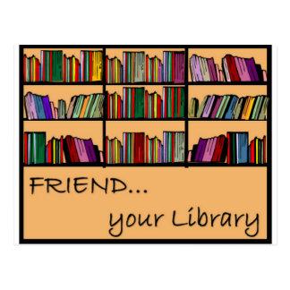 Cartão Postal Amigo sua biblioteca