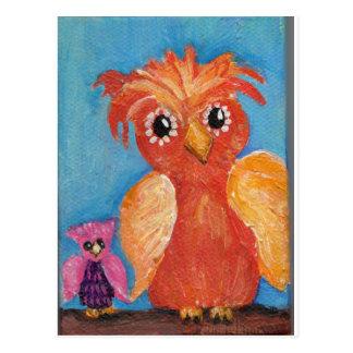 Cartão Postal Amigos da coruja pequena