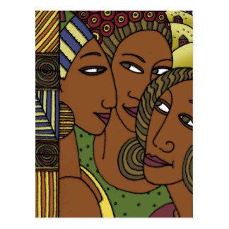 Cartão Postal Amigos da irmã das mulheres do afro-americano