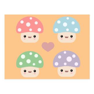 Cartão Postal Amigos do cogumelo