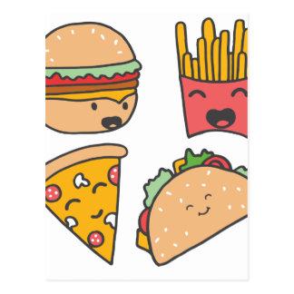 Cartão Postal amigos do fast food