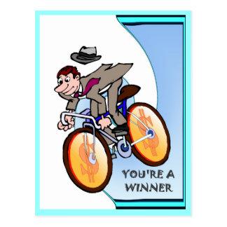 Cartão Postal Amigos do negócio, você é um vencedor