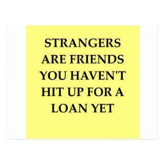 Cartão Postal amigos estranhos