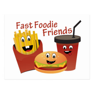 Cartão Postal Amigos rápidos de sorriso de Foodie