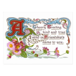 Cartão Postal Amizade animador
