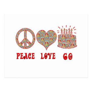 Cartão Postal Amor 60 da paz