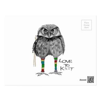 Cartão Postal Amor a fazer malha