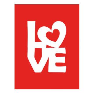 Cartão Postal Amor com coração
