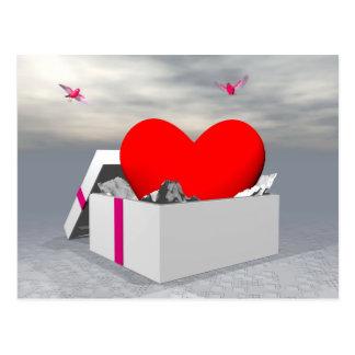 Cartão Postal Amor como um presente - 3D rendem