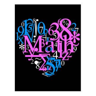 Cartão Postal Amor da matemática