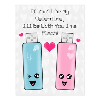 Cartão Postal Amor da movimentação do flash de USB