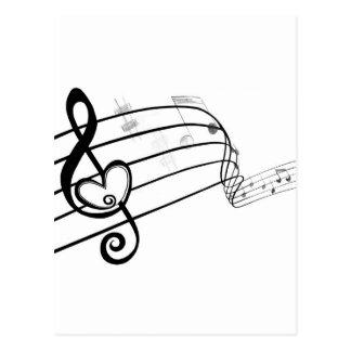 Cartão Postal Amor da música