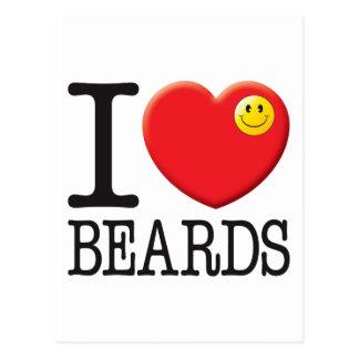 Cartão Postal Amor das barbas