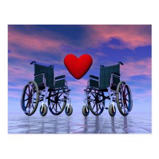 Cartão Postal Amor das pessoas deficientes - 3D rendem