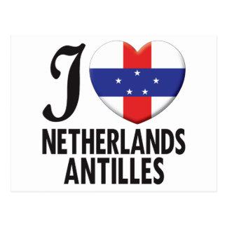 Cartão Postal Amor de Antilhas holandesas