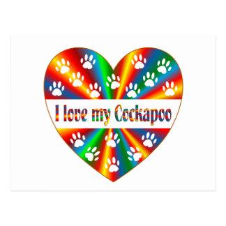 Cartão Postal Amor de Cockapoo