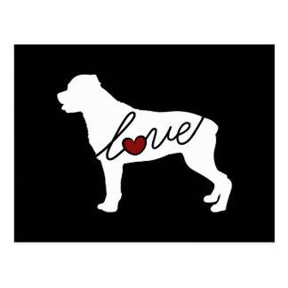 Cartão Postal Amor de Rottweiler (Rottie)