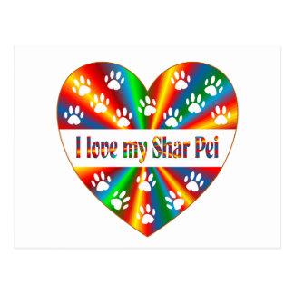 Cartão Postal Amor de Shar Pei