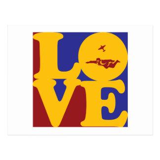 Cartão Postal Amor de Skydiving