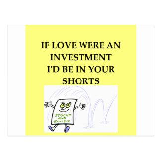 Cartão Postal amor de Wall Street
