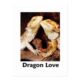 Cartão Postal amor do dragão