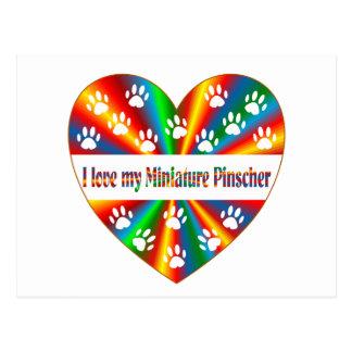 Cartão Postal Amor do Pinscher diminuto