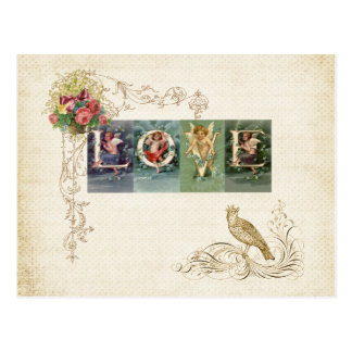 Cartão Postal Amor do Victorian do vintage