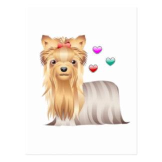 Cartão Postal Amor do yorkshire terrier