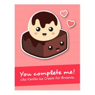 Cartão Postal Amor e romance - creme e brownie de Vanilla Ice