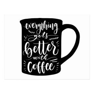Cartão Postal Amor engraçado das citações da cafeína do viciado