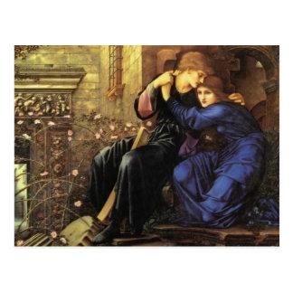 Cartão Postal Amor entre as belas artes das ruínas
