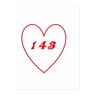Cartão Postal Amor, eu te amo
