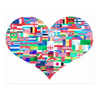 Cartão Postal Amor global