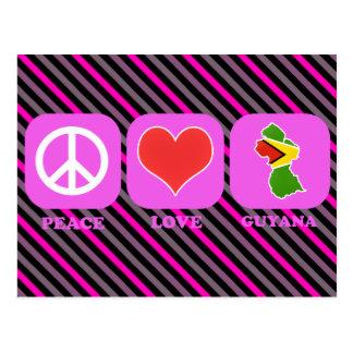 Cartão Postal Amor Guyana da paz